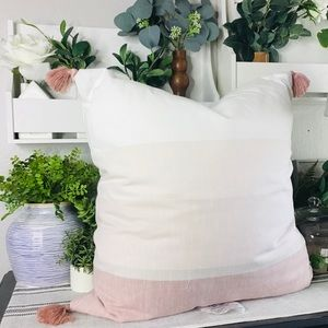 Hearth and hand rose gold tassel accent pillow